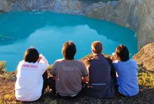 Kelimutu Three Colored Lake